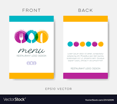 Abstract Menu Design Abstract Restaurant Menu Template