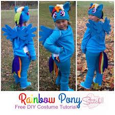 free diy rainbow pony costume tutorial