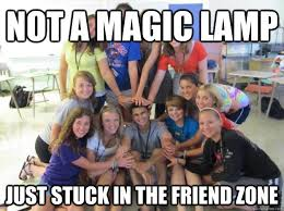 not a magic lamp just stuck in the friend zone - Friendzoned Jubin ... via Relatably.com