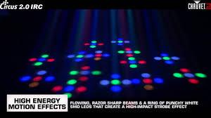 Circus Dj Light Chauvet Circus 2 0 Irc Led Sound Activated Dj Beam Strobe Effect Light