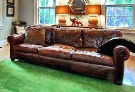 restoration hardware lancaster recliner original leather sofa couch in