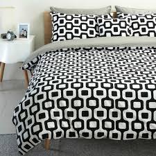 contemporary black white duvet cover