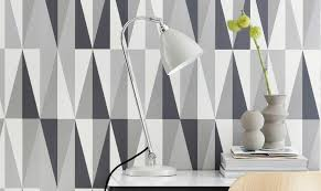 wallpapered office home design.  Home Buro3 Intended Wallpapered Office Home Design