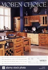 Moben Kitchen Designs 1990s Uk Moben Furniture Magazine Advert Stock Photo