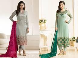 Contrast Dress Design 2018 Download Latest Party Wear Straight Cut Salwar Kameez