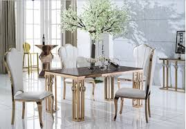 gold dining table and chairs. dining table set marble room furniture with gold leaf # 9001 gold and chairs s