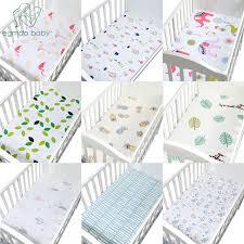 100% <b>Cotton Crib</b> Fitted Sheet <b>Soft Baby</b> Bed Mattress Cover ...