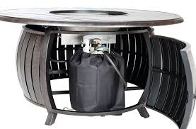 fire sense propane pit round patio table extruded aluminum 29 inch folding