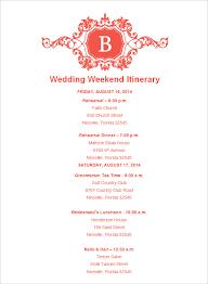 52 Wedding Itinerary Templates Doc Pdf Psd Free