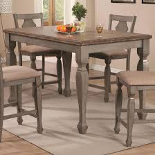 paint color idea perfect two tone dining table glamorous room set gallery with apartment decoration coaster 106308 riverbend counter