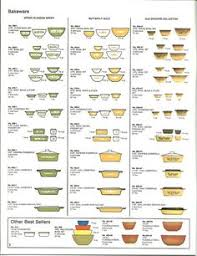 Pyrex Color Chart 1864 Best Vintage Pyrex Images In 2019 Pyrex Vintage