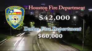 Houston Fire Department Salary Chart By The Numbers Houston Firefighters Pay Compared To Other