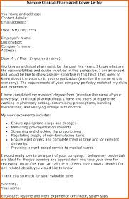 Cover Letter For A Pharmacist As Well As Cover Letter Example ...
