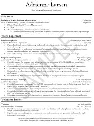 Education Sample Resumes Resume