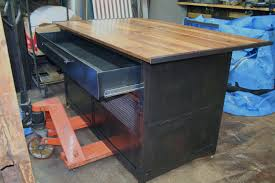 Metal Kitchen Island Tables Real Industrial Edge Furniture Llc Industrial Kitchen Island