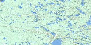 Caddy Lake Mb Free Topo Map Online 052e14 At 1 50 000