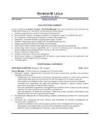 Resume Product Manager Sample Resume