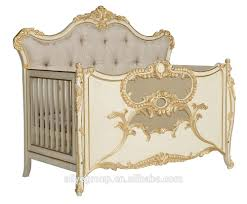Antique Baby Cribs Ak24 Solid Wood Baby Bed Crib Multifunction Wooden Luxury Baby