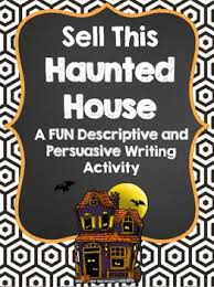 best descriptive writing activities ideas sell this haunted house writing activities