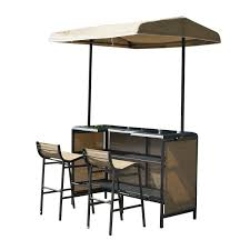 outdoor bar table and chairs. Outsunny Piece Outdoor Mesh Cloth Canopy Bar Set Table And Chairs