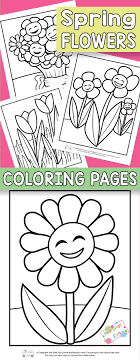 Flower Coloring Pages For Kids Itsy Bitsy Fun