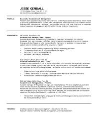 Cover Letter Assistant Bank Manager Resume Samples With Profile