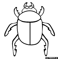 Small Picture Insect Online Coloring Pages Page 1