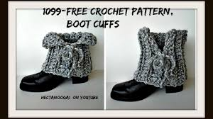 Youtube Free Crochet Patterns Cool FREE CROCHET BOOT CUFF PATTERN Laced Boot Cuffs 48yt Easy