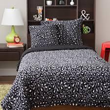 plush gray cheetah print comforter