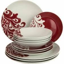 buy living 12 piece porcelain damask dinner set cranberry at argoscouk argos pc living room set