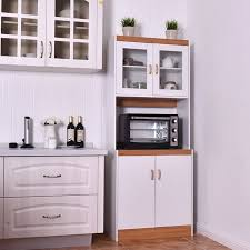 Image Laundry Room Walmart Gymax Tall Microwave Cart Stand Kitchen Storage Cabinet Shelves Pantry Cupboard White