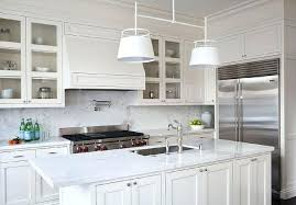 backsplash ideas for white marble countertops white and cream kitchens