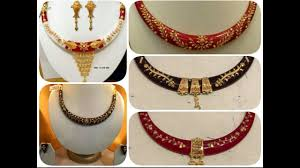 Gold Cheek Necklace Design Latest Bengali Pola Necklace Designs Youtube