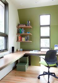 Workspace furniture office interior corner office desk Elegant Corner Office With Bright Walls Fairborne Homes Home Offices With Corner Desks Design Idea Gallery Full Home Living