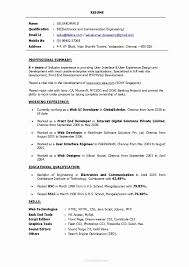 4 Years Experience Resume Format New Resume Template Job Sample