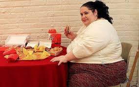 Fette menschen essen