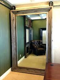 mirrored barn door mirror sliding for bathroom lowes mirrored barn door