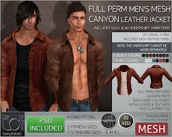 mesh mens canyon leather jacket