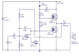 wiring schematic diagram 10 watts mosfet audio amplifier 10 watts mosfet audio amplifier