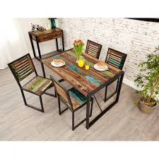 Baumhaus Urban Chic Small Dining Table With 4 Dining Chairs Irf04a