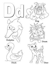 Small Picture My A to Z Coloring Book Letter D coloring page Download Free