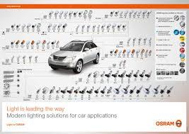 Auto Light Bulb Chart New Osram Bulb Wall Chart Counter Mat From Pr Reilly