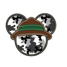 Safari Mickey Applique Design Mickey Mouse Ears Safari Hat Applique Mickey Safari Applique