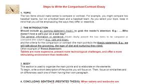 a compare and contrast essay what is a comparative and contrast  steps to write the comparison contrast essay 1 topic the two items should make