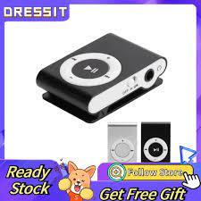 Máy Nghe Nhạc Mp3 Kỹ Thuật Số Mini Có Kẹp Tai Nghe Và Cáp Usb - Loa  Bluetooth