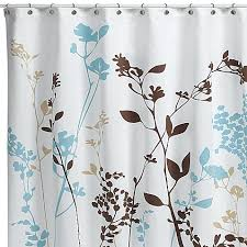 modern fabric shower curtain. Reflections Floral Fabric Shower Curtain Modern A