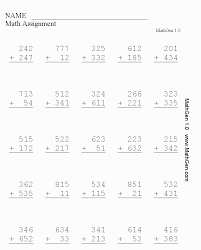 Collections of Printable Math Worksheets Grade 3, - Easy Worksheet ...