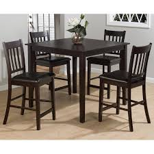 jofran marin county 5pc counter height merlot table set