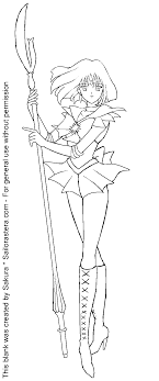 SAILOR SATURN COLORING PAGE - Coloring Home