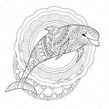 Dolfijn En Mandala S Stockvector Sliplee 114412170 Voyceeu
